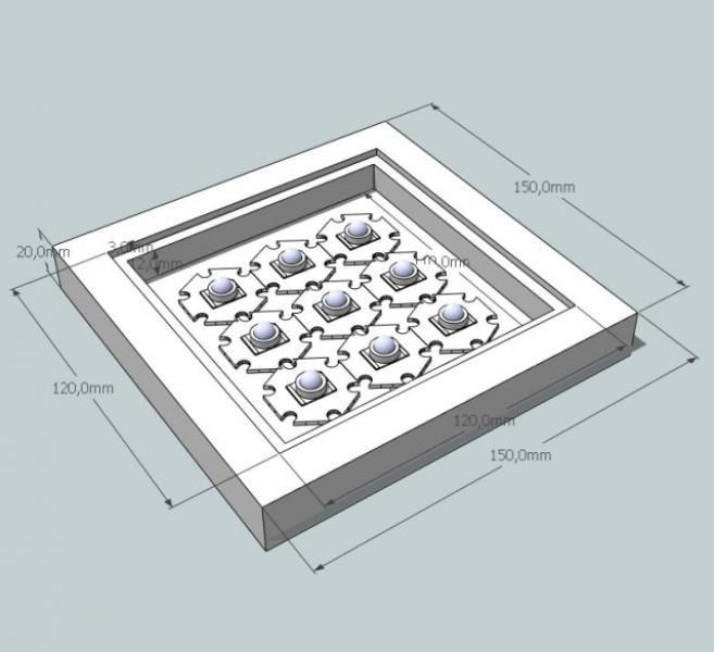 3D návrh Cree LED