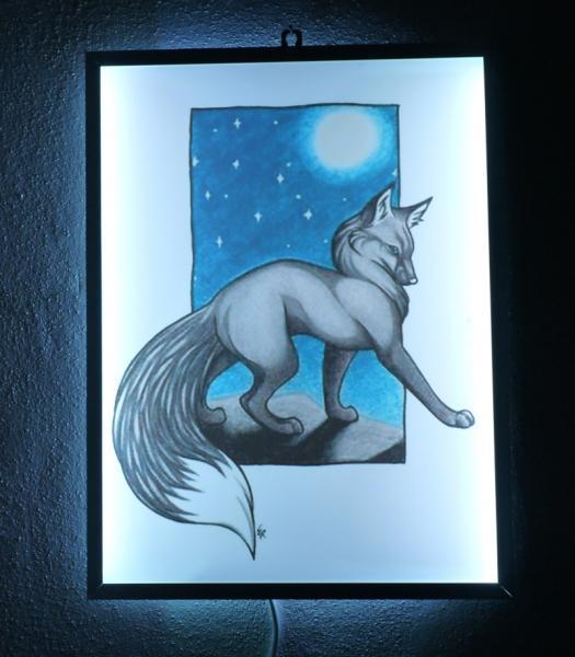 RGB podsvětlený obrázek na stěnu