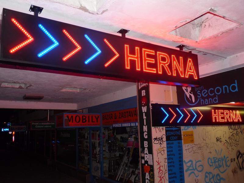 blikající reklama - Herna Ládví