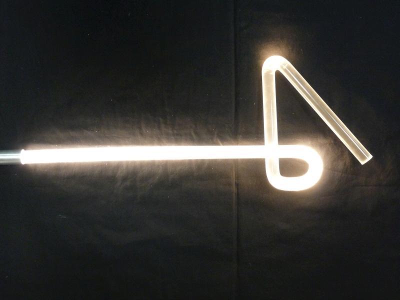 pokus se světelnou tyčí