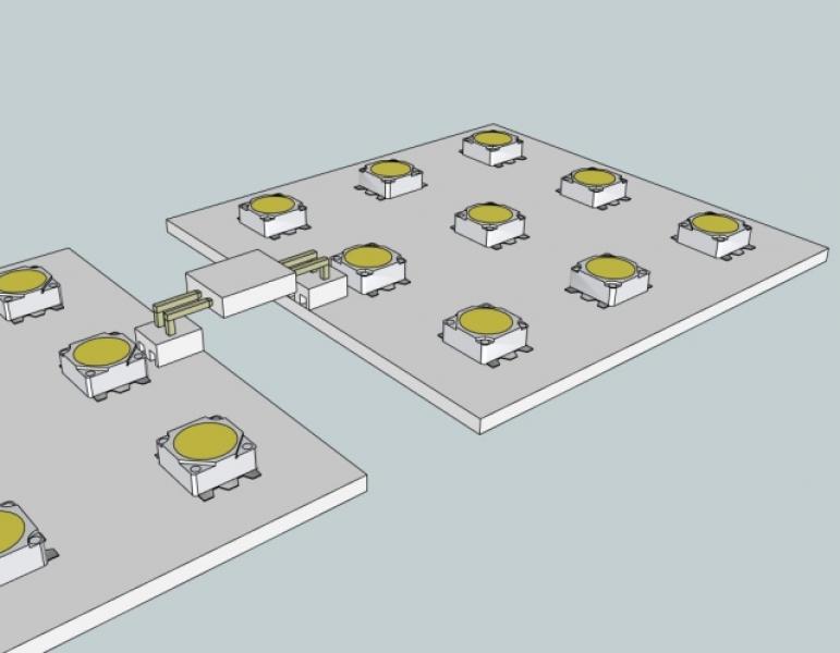 3D návrh LED modulů