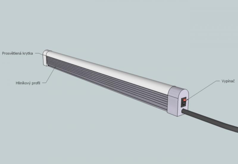 3D návrh - prosvětlení preforem