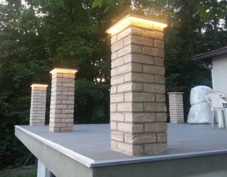 podsvětlení čepis sloupků - osvětlení terasy